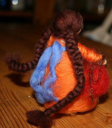 Presepe in lana cardata tutorial - Maria, Giuseppe, Gesù bambino, i pastori e i Re Magi 25