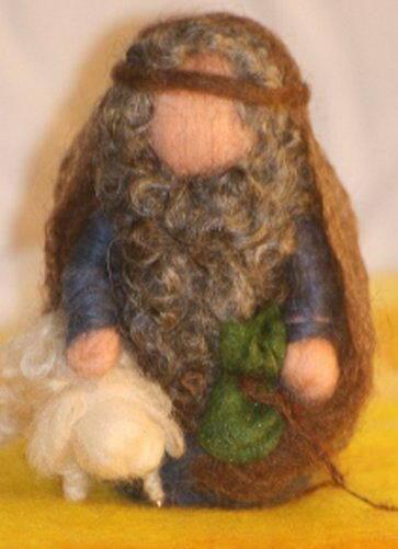 Presepe in lana cardata tutorial - Maria, Giuseppe, Gesù bambino, i pastori e i Re Magi 28