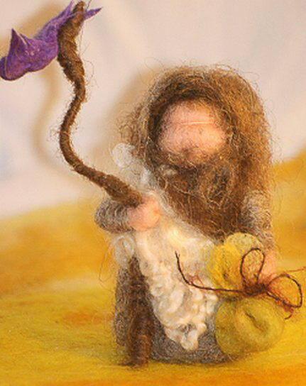 Presepe in lana cardata tutorial - Maria, Giuseppe, Gesù bambino, i pastori e i Re Magi 29