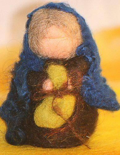 Presepe in lana cardata tutorial - Maria, Giuseppe, Gesù bambino, i pastori e i Re Magi 32