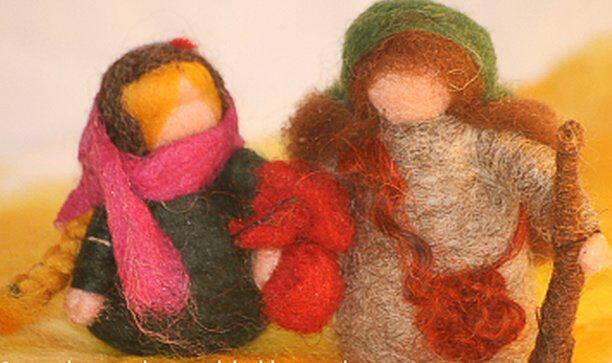 Presepe in lana cardata tutorial - Maria, Giuseppe, Gesù bambino, i pastori e i Re Magi 33