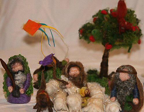 Presepe in lana cardata tutorial - Maria, Giuseppe, Gesù bambino, i pastori e i Re Magi 36