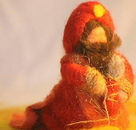 Presepe in lana cardata tutorial - Maria, Giuseppe, Gesù bambino, i pastori e i Re Magi 39