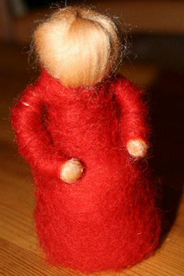 Presepe in lana cardata tutorial - Maria, Giuseppe, Gesù bambino, i pastori e i Re Magi 4