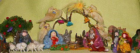 Presepe in lana cardata tutorial - Maria, Giuseppe, Gesù bambino, i pastori e i Re Magi 40