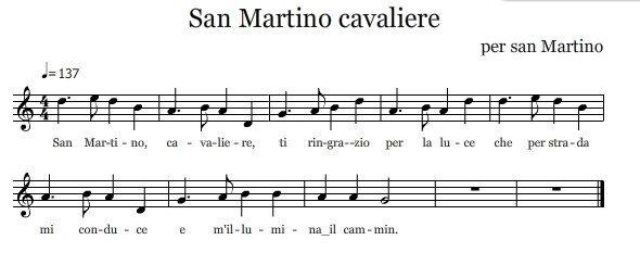 San Martino cavaliere – canto per San Martino