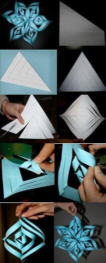 Stella tridimensionale di carta tutorial la pappadolce for Stelle di carta tridimensionali