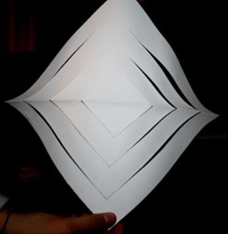 Stella tridimensionale di carta 8