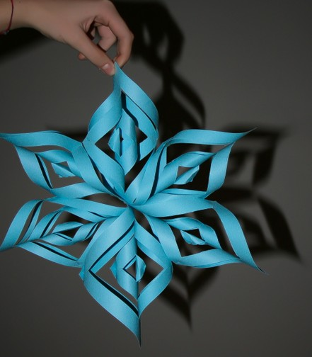 Tridimensional paper star