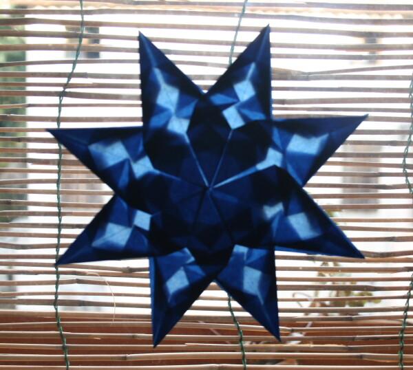 LAVORETTI PER NATALE – stella di carta trasparente – modello 7