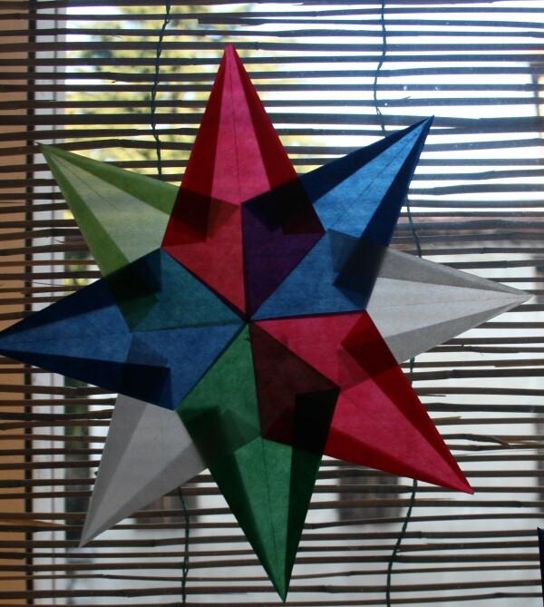 LAVORETTI PER NATALE - stella di carta trasparente – modello 8