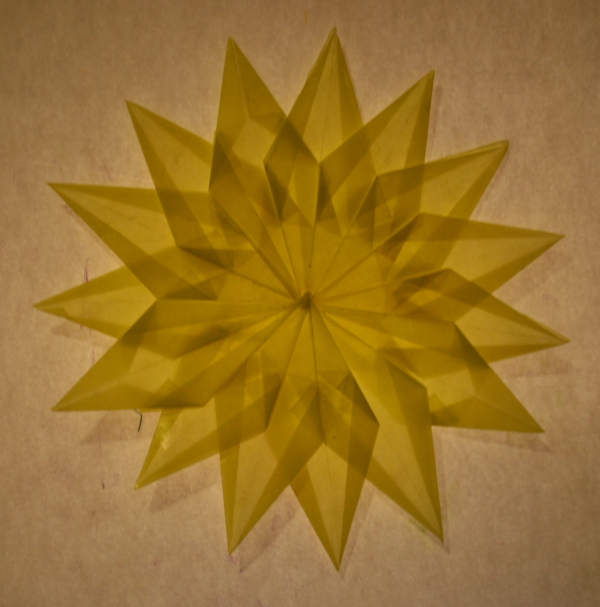 Transparent paper star tutorial - model 9