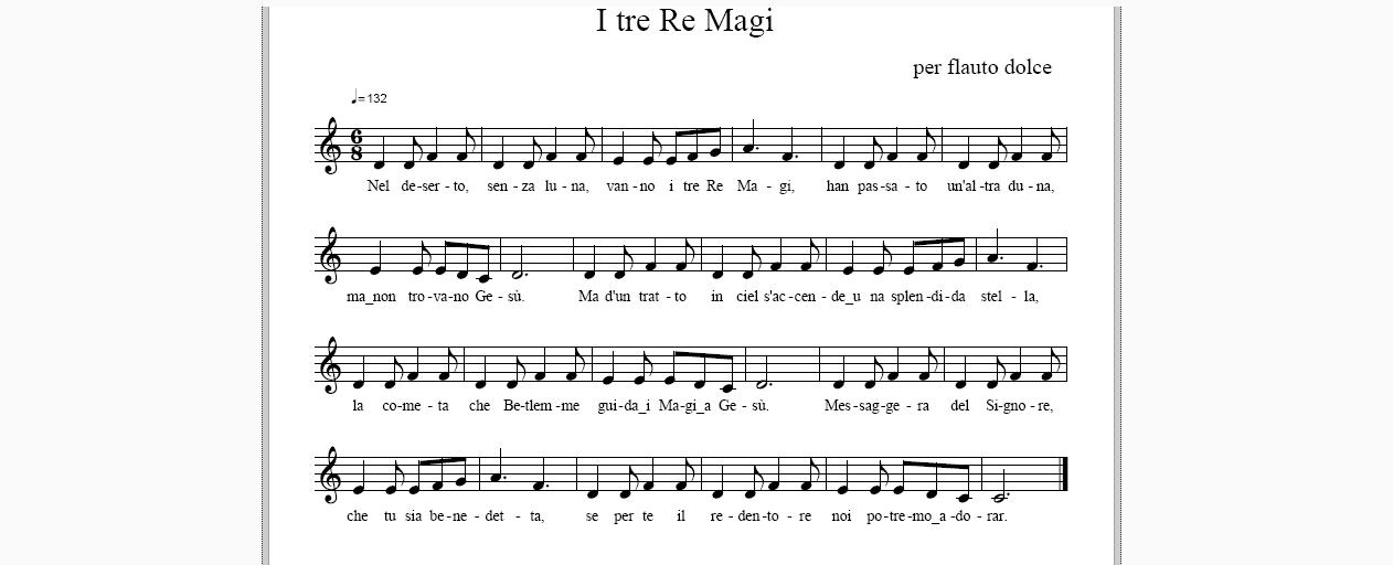 CANTI DI NATALE - I Re Magi