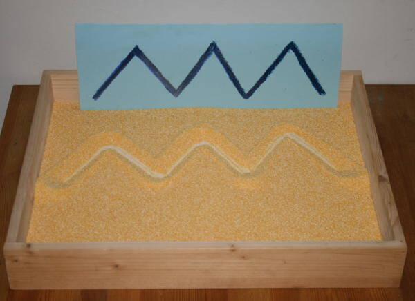 Lavagna di sabbia Montessori - Apprendimento della scrittura 2