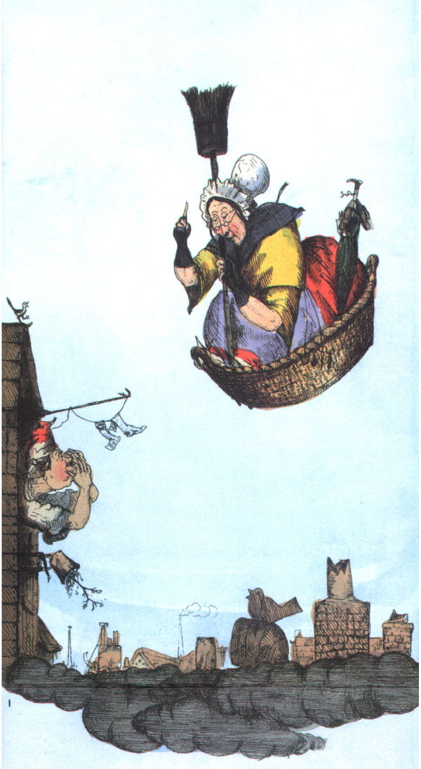 Befana? The flight of the old woman who was tossed up in a basket