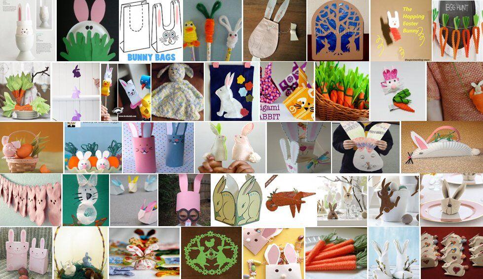 Lavoretti per Pasqua conigli e carote - 40 e più progetti