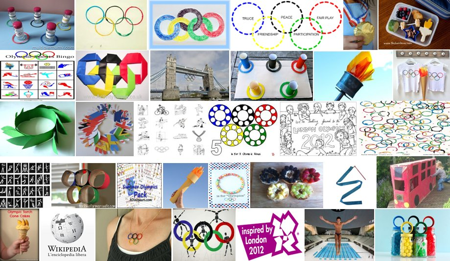 Teaching materials and crafts for the Olympics: 50 and more ideas