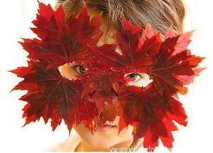 lavoretti per l'autunno 110 e più progetti creativi da realizzare coi bambini autunno maschera-di-foglie