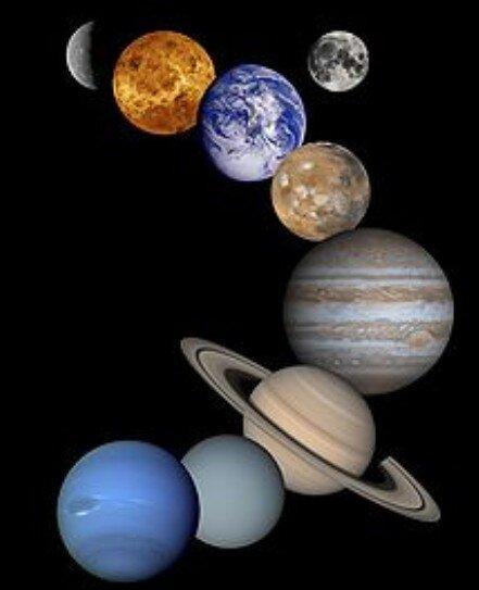 Dettati ortografici sul sistema solare