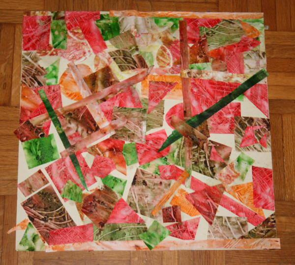 Lavoretti per bambini – collage di forme geometriche