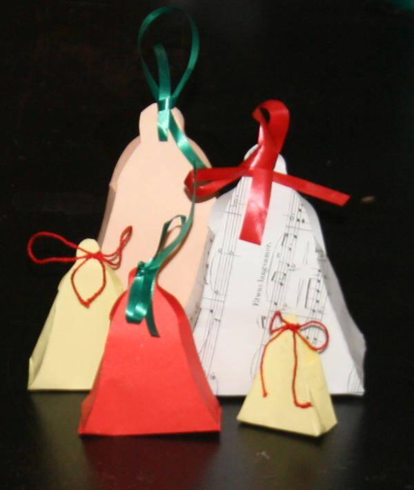Lavoretti di natale scatoline a forma di campana la for Youtube lavoretti per natale