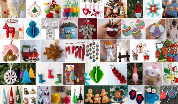 Addobbi natalizi fai da te in pannolenci – 80 e più modelli