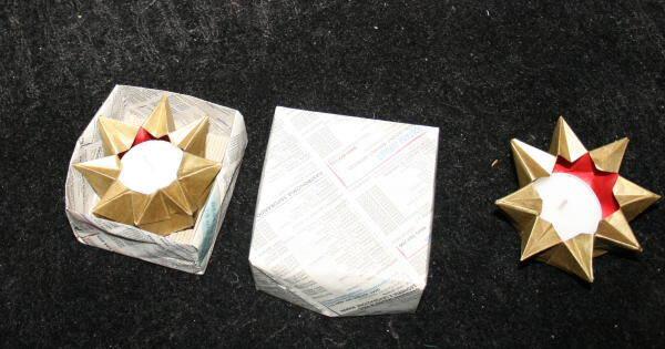 Lanterna di carta a stella la pappadolce - Decorazioni natalizie carta ...