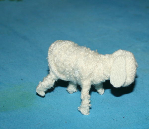 presepe fai da te - pecorelle