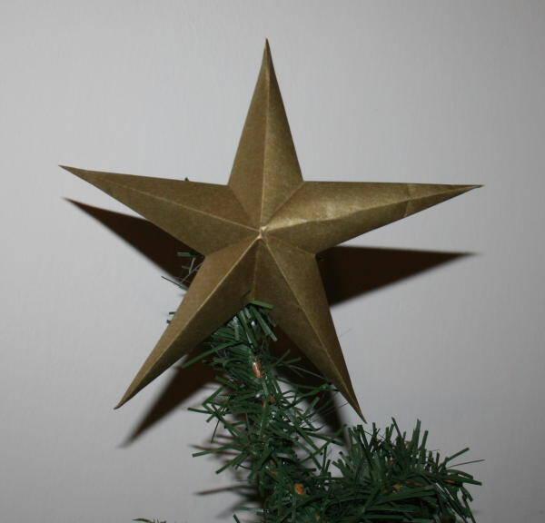 Stella Di Natale A 5 Punte.Addobbi Natalizi Fai Da Te Stella Di Carta A Cinque Punte Lapappadolce