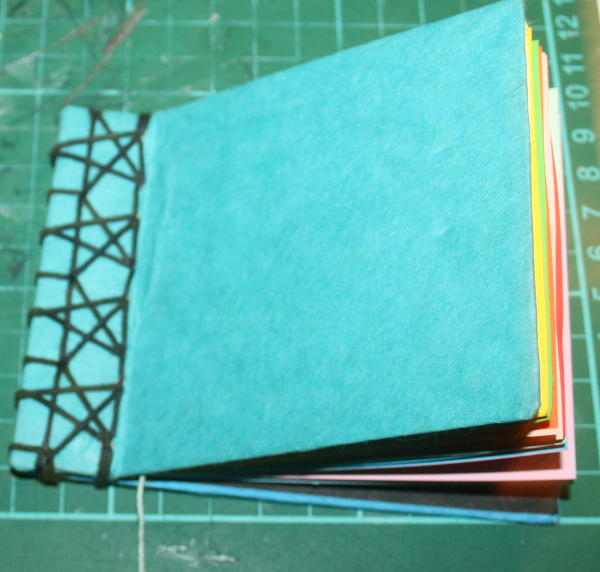 Book building for children: Japanese starlets Binding with tutorial and free pattern.