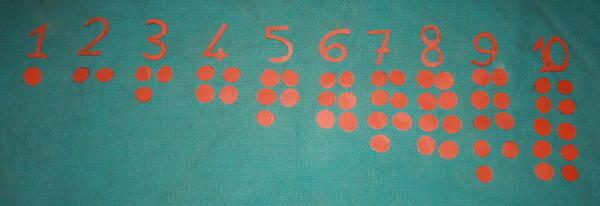 numeri e gettoni Montessori 11