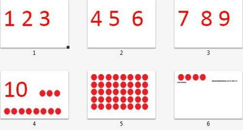 numeri e gettoni Montessori