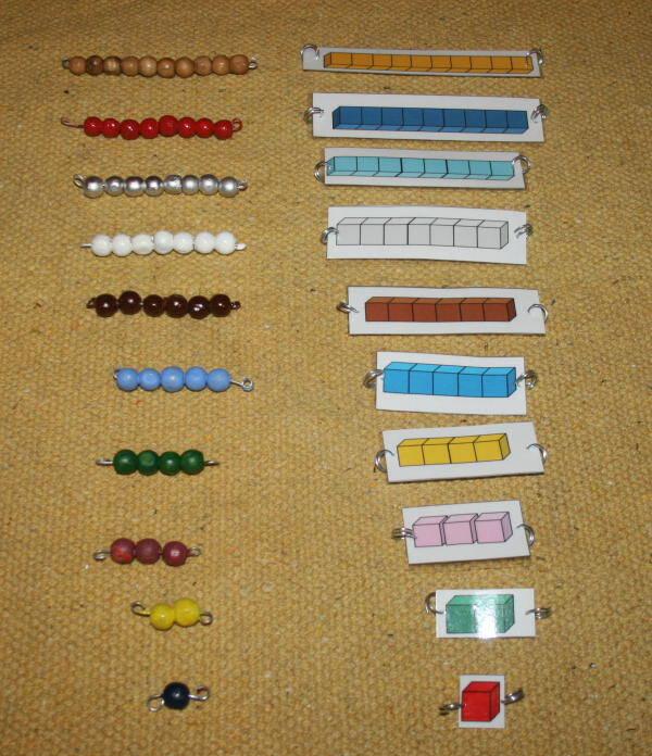 Costruire il materiale delle perle colorate Montessori perle-colorate-Montessori-31