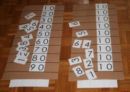 Esercizi con le tavole di Sèguin e le perle colorate Montessori