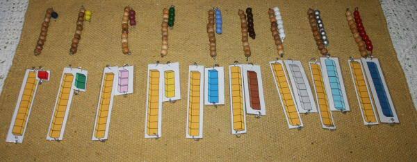 perle colorate Montessori 32