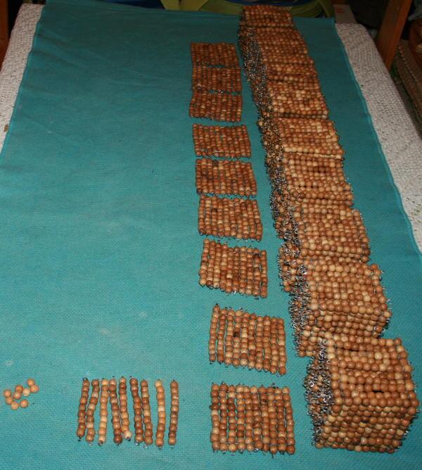 Versione stampabile delle perle dorate Montessori