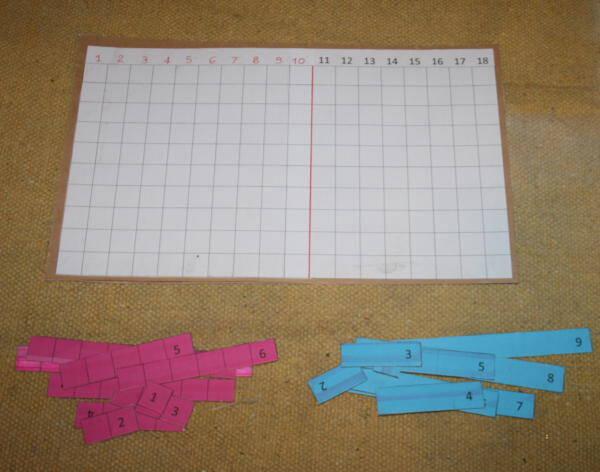 Il tavoliere delle asticine Montessori per l'addizione - free download tavola-delladdizione-asticine-13