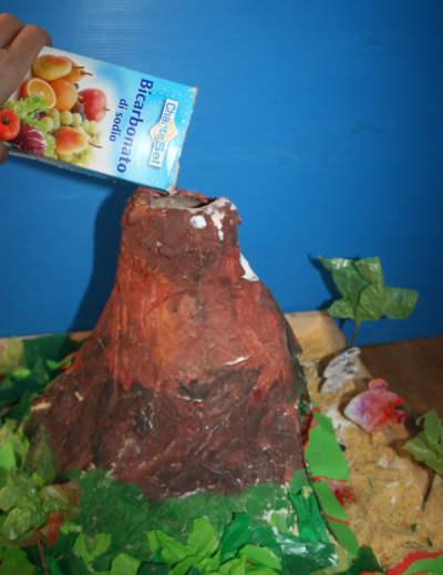 eruzione vulcanica esperimento