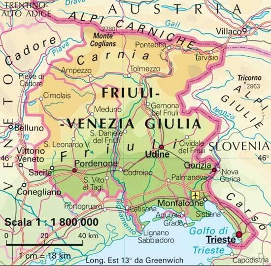 Dettati ortografici e materiale didattico sul FRIULI VENEZIA GIULIA