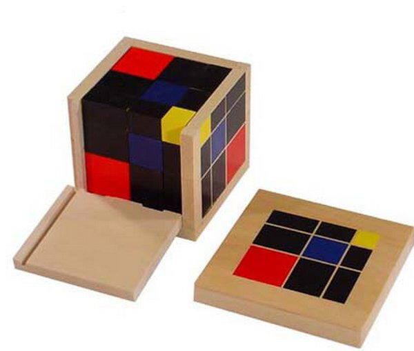 Il grande cubo del trinomio Montessori
