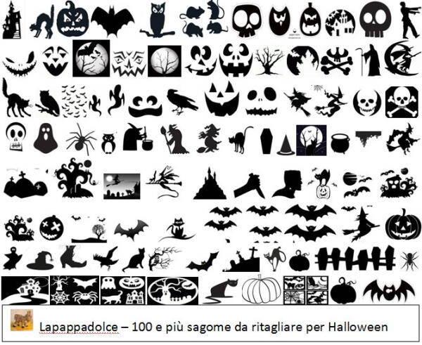 Sagome Halloween – una raccolta di 100 e più modelli gratuiti