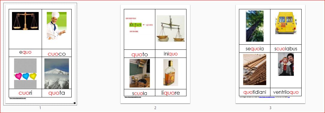 Nomenclature per le difficoltà ortografiche CUO QUO -