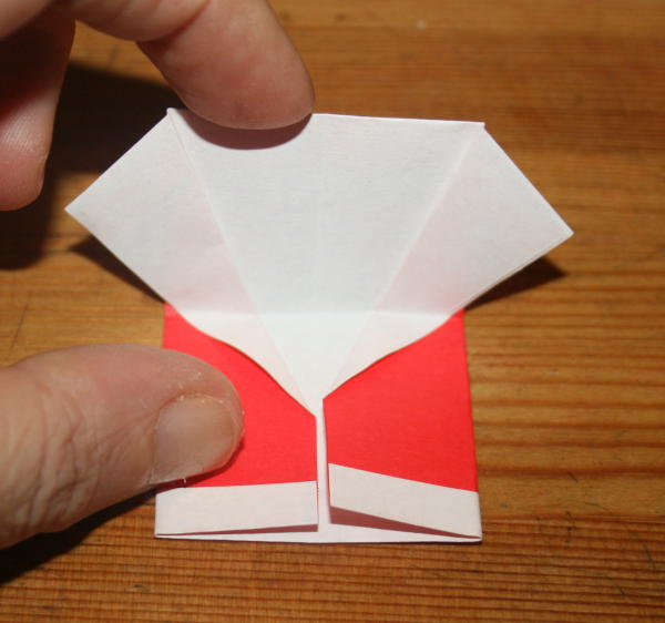 Babbo Natale origami 16