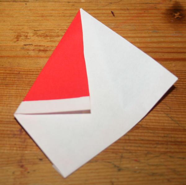 Babbo Natale origami 3