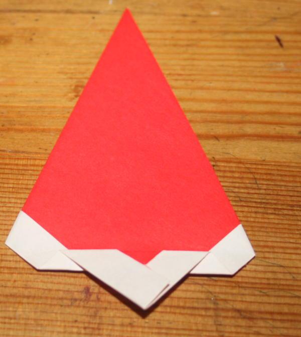 Babbo Natale origami 7