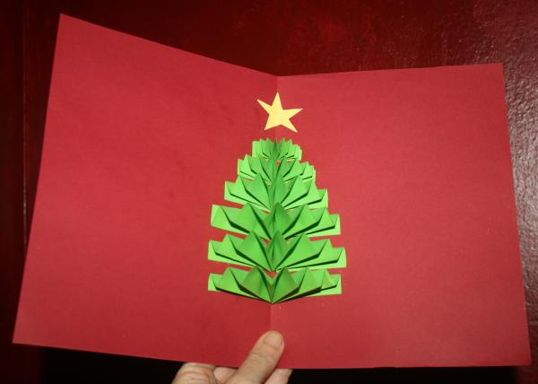 Lavoretti Biglietti Di Natale.Biglietto Natalizio Pop Up Con Albero Di Natale Lapappadolce
