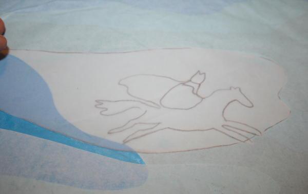Cartamodello quadro trasparente San Nicola