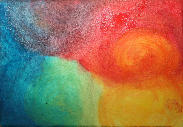 ACQUARELLO STEINERIANO – La visita del raggio di sole