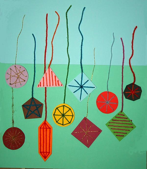 Addobbi natalizi palline ricamate per l 39 albero lapappadolce - Addobbi natalizi per finestre scuola infanzia ...