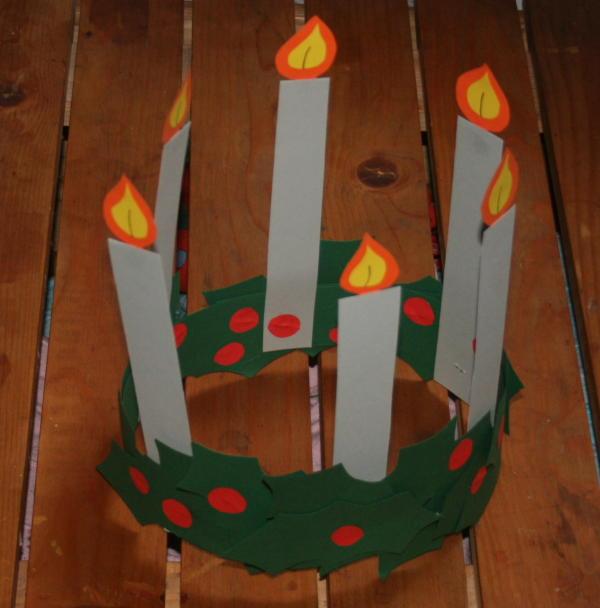 SANTA LUCIA coroncina con candele